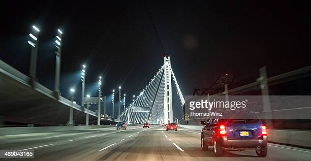 Driving on a Bridge at nights