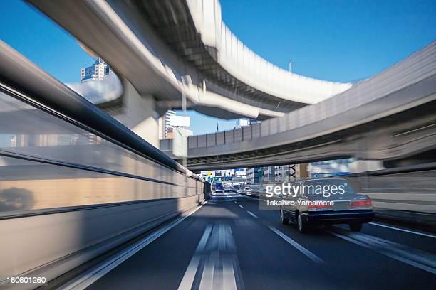 Driving on the Metropolitan Expressway