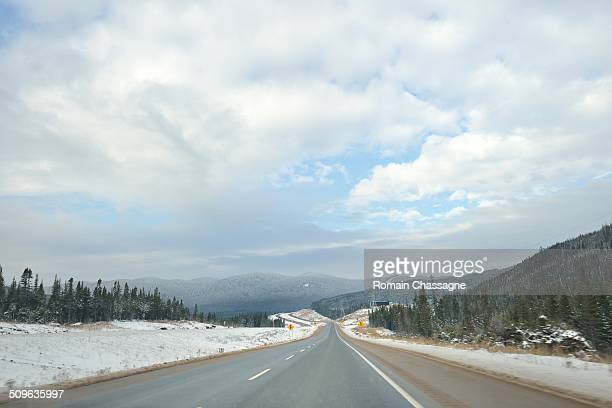 Driving on the Road, quebec, canada
