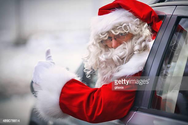 Driving Santa.