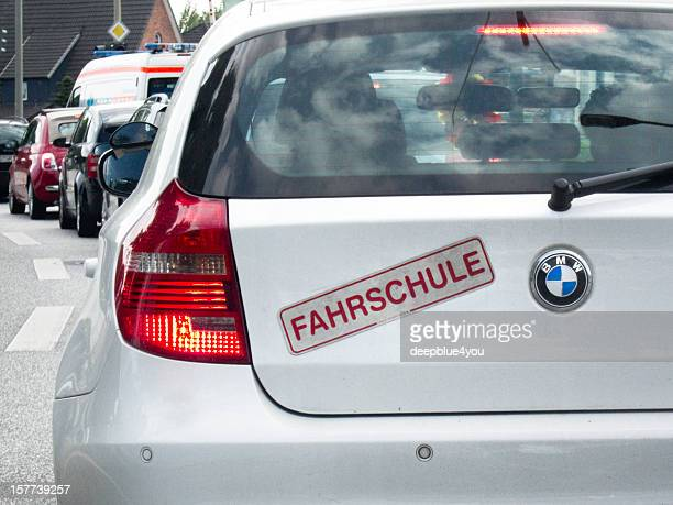 BMW driving school car in the citiy of hamburg