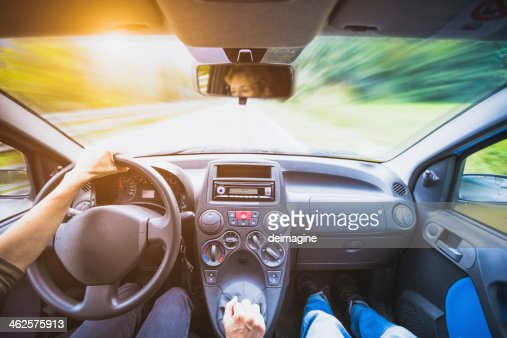 Driving the car