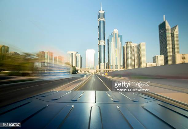 Driving through Dubai