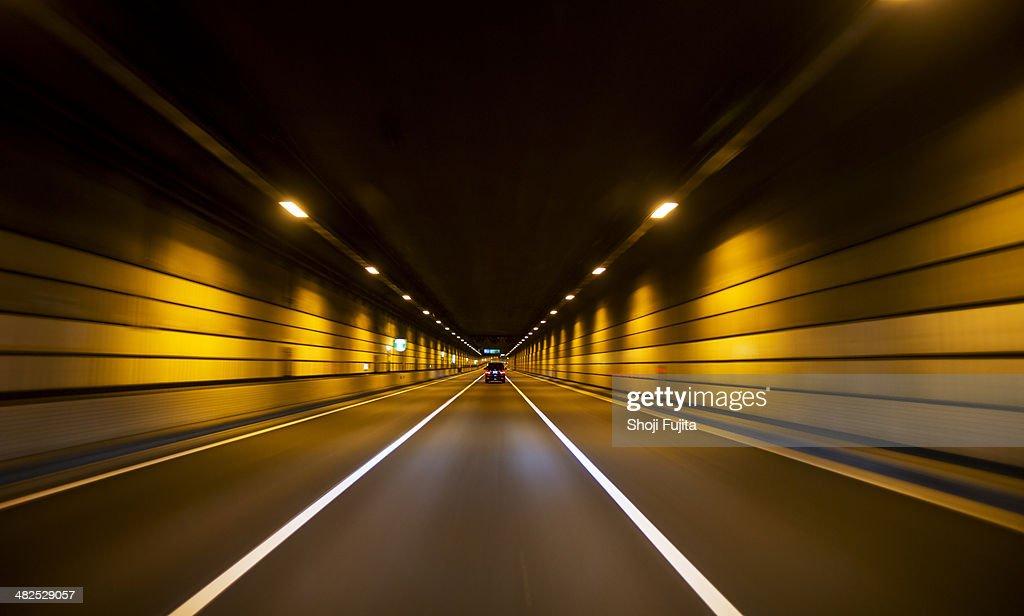 Driving through tunnel