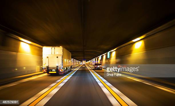 Driving through tunnel