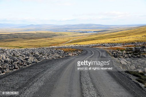 Driving to Johnson Harbour, East Falkland / Falkland Islands : Stock Photo