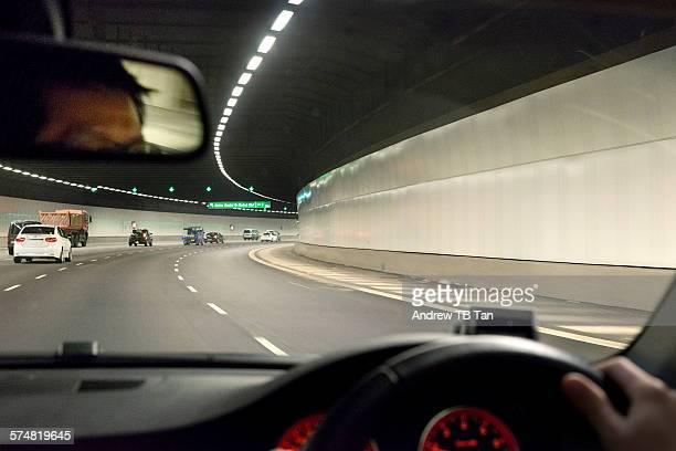 Driving underground in Singapore