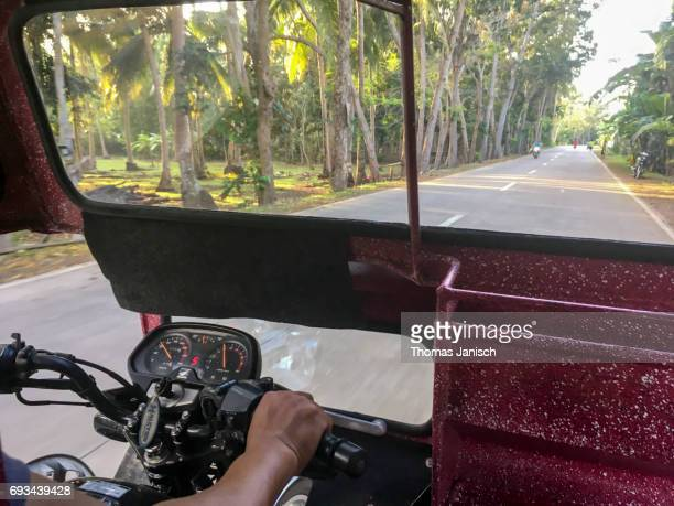 Driving with a tricycle at the Philippines