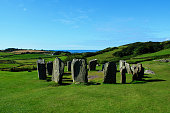 Mysterious and fascinating Drombeg Stone Circle in the County Cork, Ireland