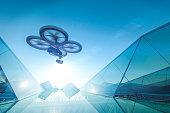 Drone fly sky