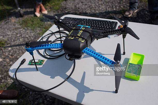 A drone featuring LATAS is prepared for a demonstration in Durham North Carolina US on Tuesday July 7 2015 Google Inc is joining some of the biggest...