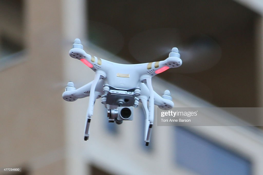A drone flying over the croud during 'Dance Avec Les Stars' performance at the Grimaldi Forum on June 14, 2015 in Monte-Carlo, Monaco.