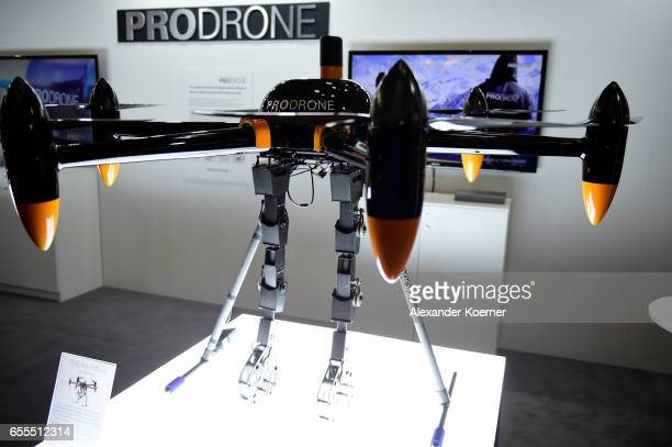 A drone for farmers is presented at the CeBIT 2017 Technology Trade Fair on March 20 2017 in Hanover Germany The 2017 CeBIT will run from March 2024