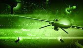 UAV Drone - 3d Rendering
