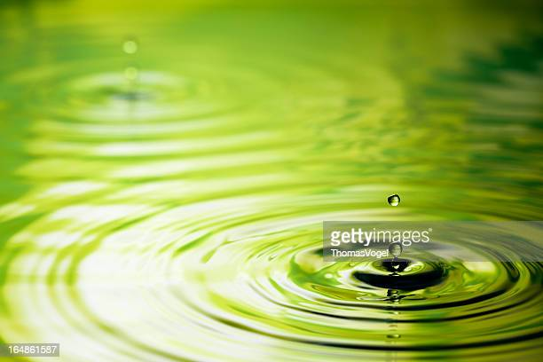 Drop into Green - Water Nature Ripple