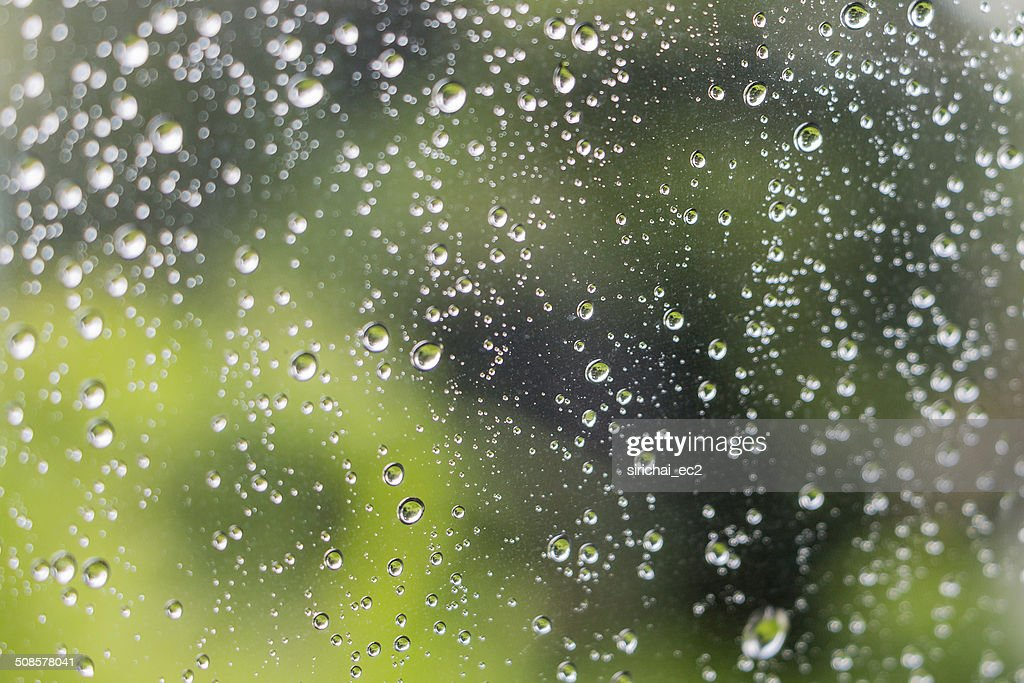 Drop of water on mirror : Stockfoto