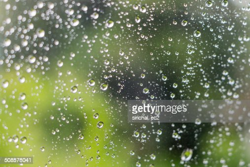 Drop of water on mirror : Stock Photo