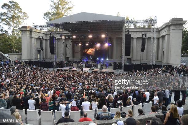 Dropkick Murphys perform during the 'From Boston to Berkeley' tour at University of California Berkeley on August 20 2017 in Berkeley California