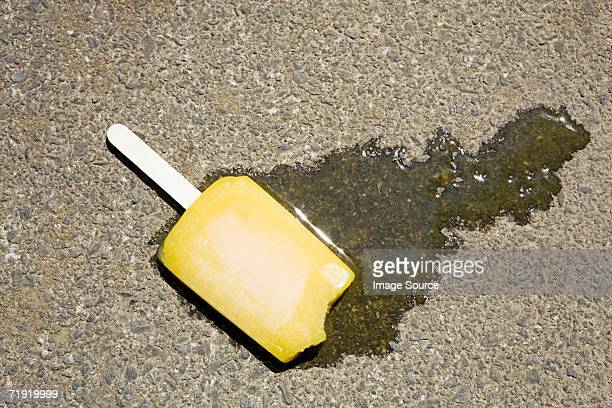 A dropped ice lolly