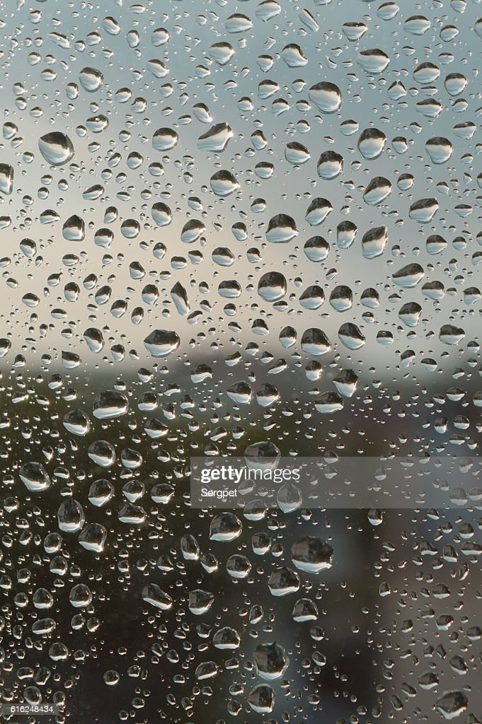 Drops of rain on the window : Stock Photo