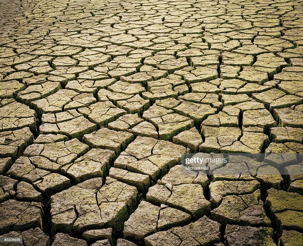 Drought, cracked earth