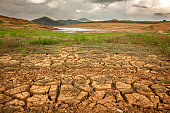 Drought soil in brazilian dam