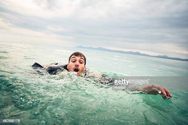 drowning businessman