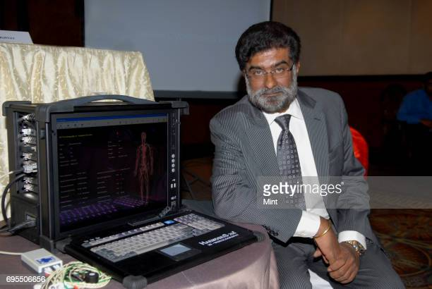 DrRajah Vijay Kumar Chairman of Scalene Cybernetics Ltd photographed at the time of the launch of Haemoseis 2563D Vasculography