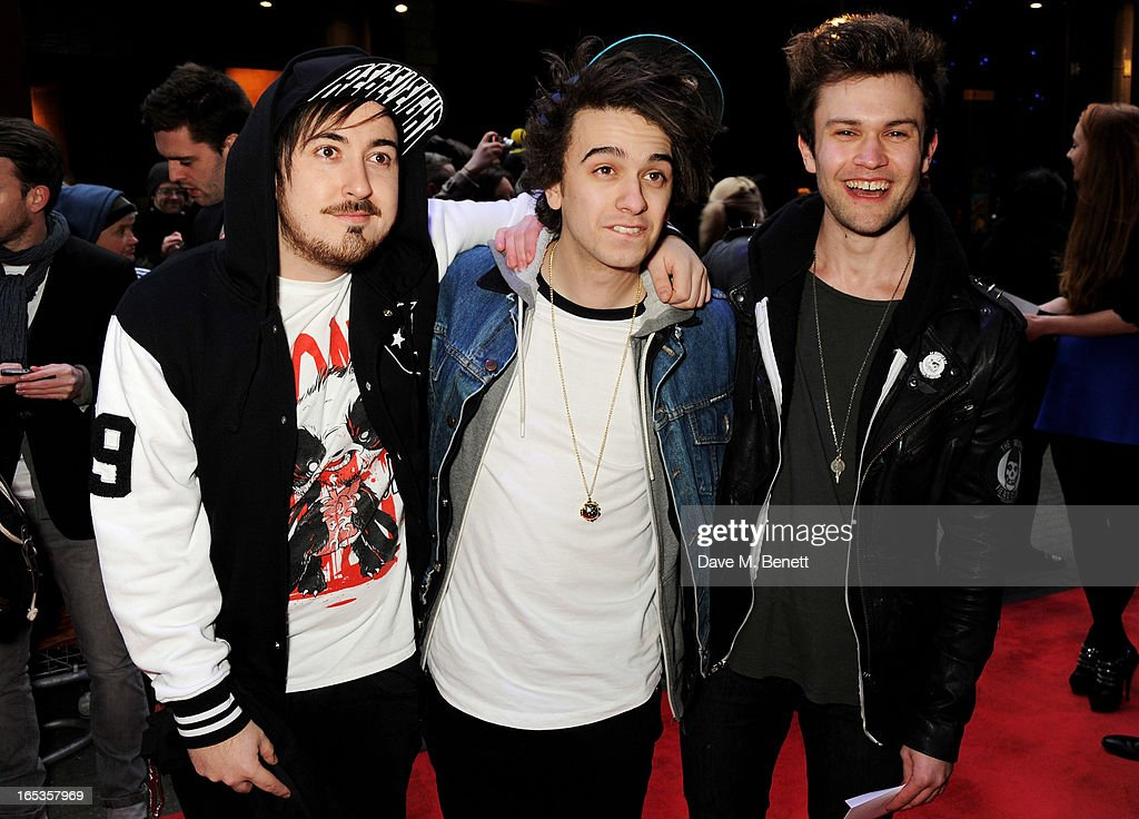 Dru Wakely, Stefan Abingdon and Ashley Horne attend the UK Premiere of 'Olympus Has Fallen' at BFI IMAX on April 3, 2013 in London, England.