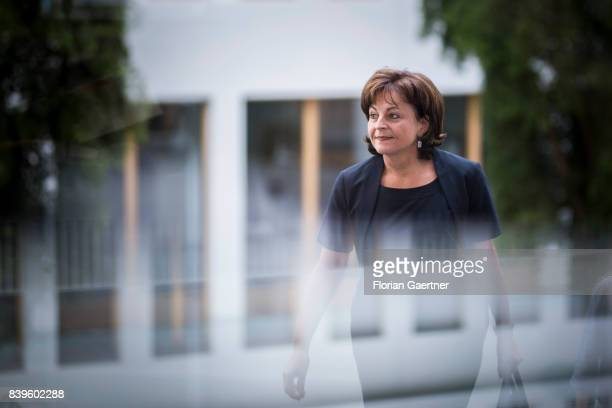 Drug Commissioner of the Federal Government Marlene Mortler is pictured before a press conference on August 18 2017 in Berlin Germany