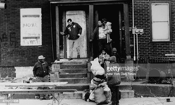 Drug raid on Queens crack house at 170th St Liberty Avenue Jamaica NY Police from TNT Squad along with Federal Marshals at suspected crack house...