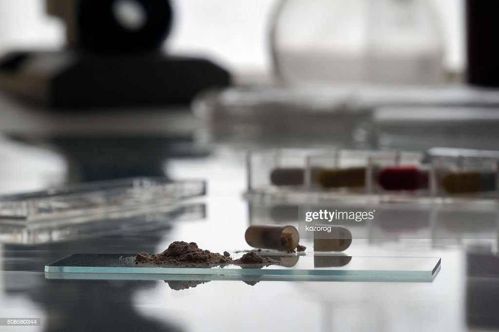 Drug Research in the laboratory : Stock Photo
