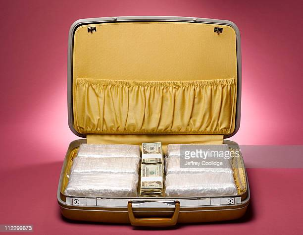 Drugs and Money in Suitcase
