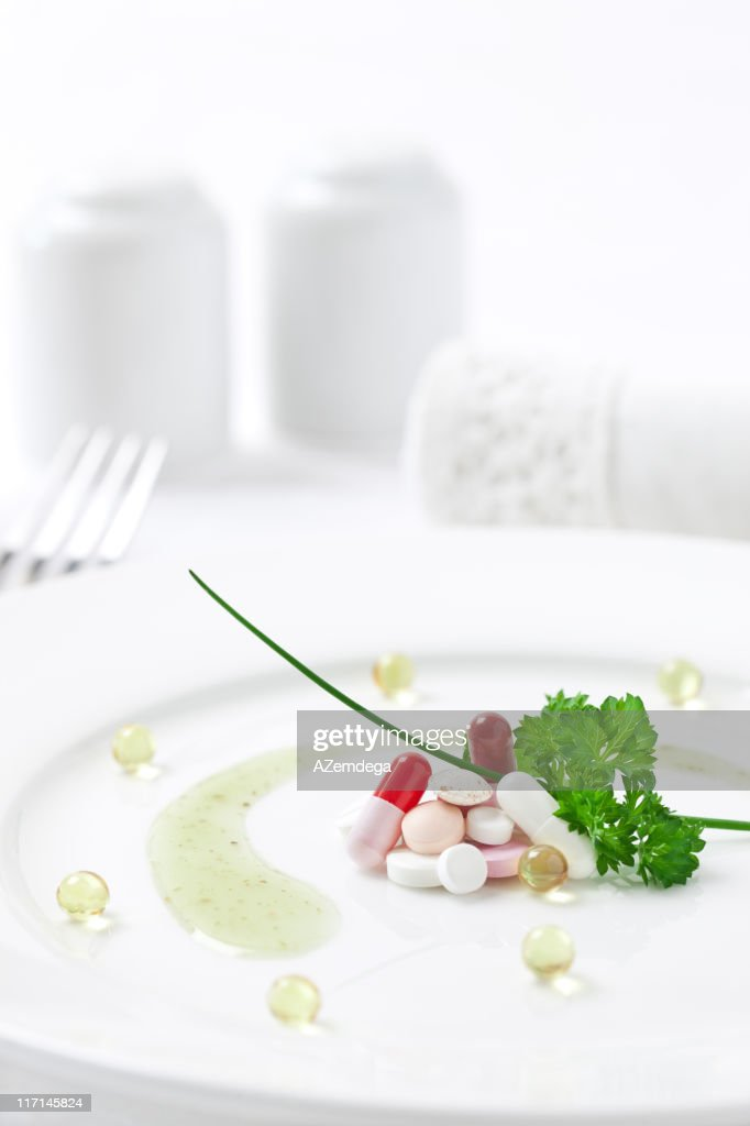 Drugs as food : Stock Photo
