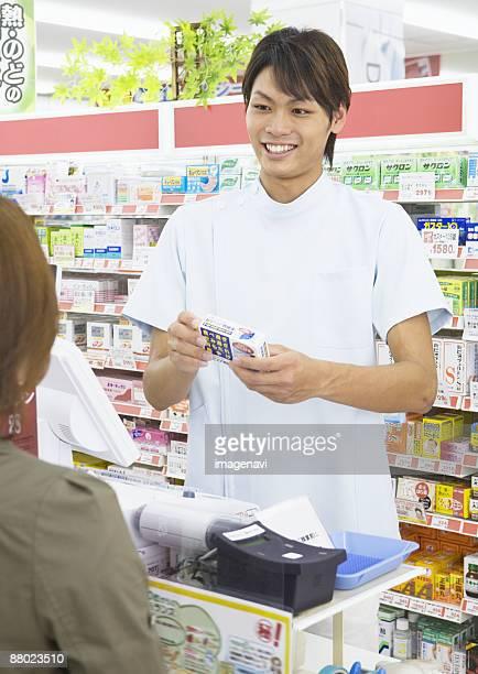 A drugstore clerk