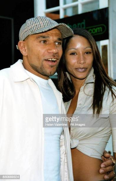 Drum Bass musician Goldie and his girlfriend Sonya at the launch of PlayHardLondon a new Londonbased club for young professionals