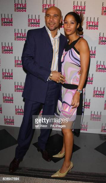 Drum Bass musician Goldie and his wife Sony at the Elle Style Awards 2004 at the Natural History Museum in south London
