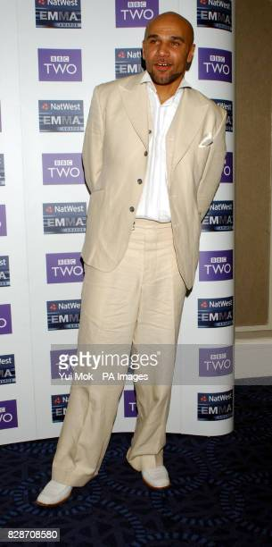 Drum Bass musician Goldie arriving for the 2003 Natwest EMMA Awards held at the Grosvenor House Hotel on Park Lane central London