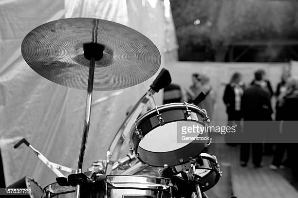 drum kit at a party