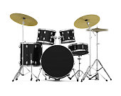 Drum Kit isolated on white background. 3D render
