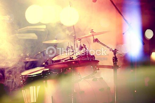 Drum on stage : Stock Photo
