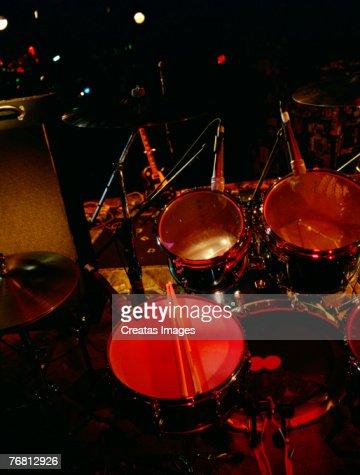 Drum Set On Stage Stock Photo Thinkstock