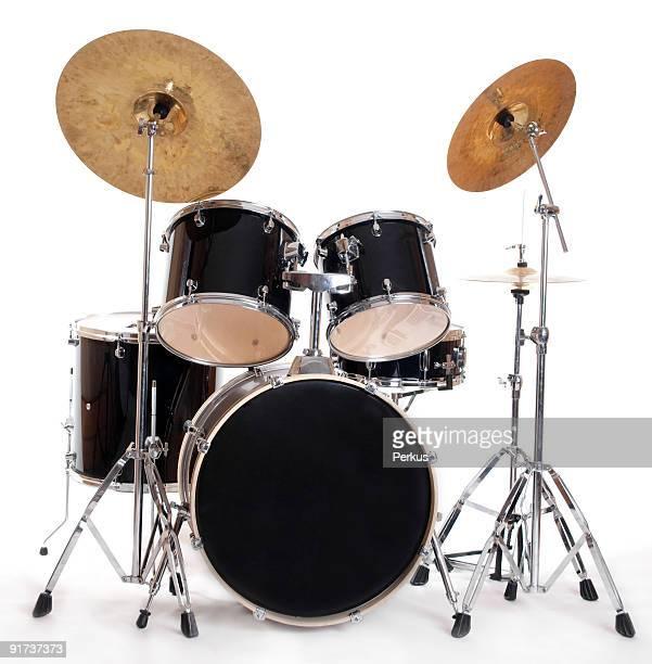 drum set on white