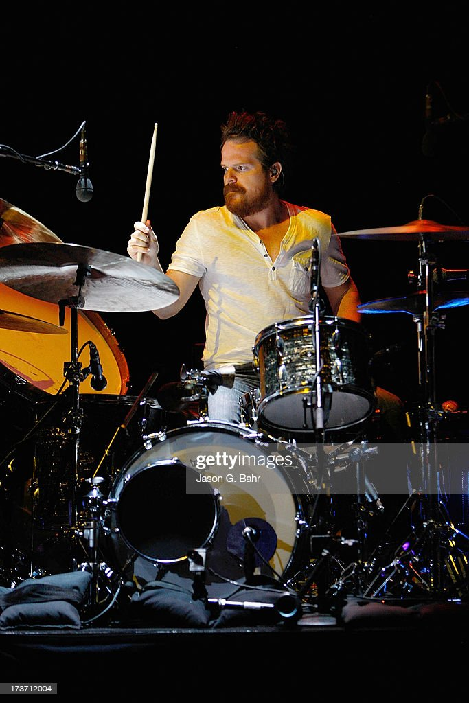 Drummer Aaron Sterling performs with John Mayer at Red Rocks Amphitheatre on July 16, 2013 in Morrison, Colorado.
