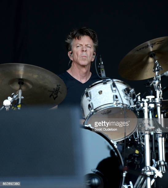 Drummer and Rock and Roll Hall of Fame member Chris Layton of the Kenny Wayne Shepherd Band and Double Trouble performs onstage during Bourbon Beyond...