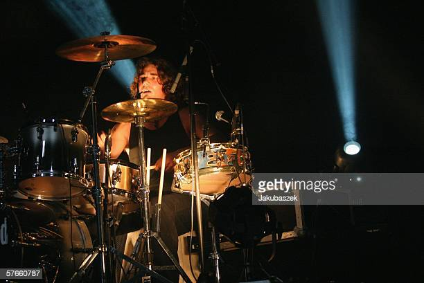 Drummer Andreas Nowak of the band 'Silbermond' performs live at the Columbiahalle May 19 2006 in Berlin Germany The concert was part of the 'Laut...