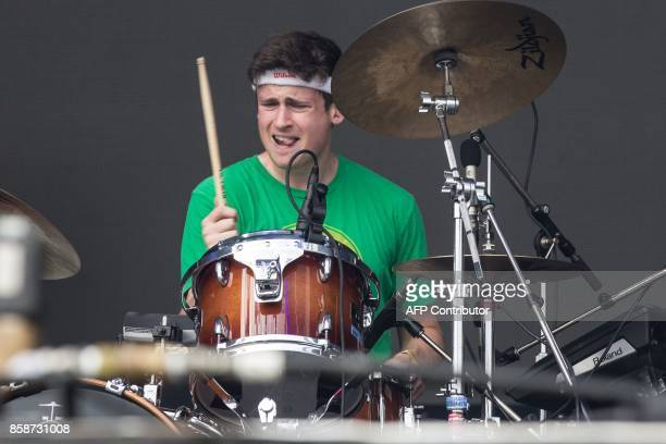Drummer Andrew Katz of Car Seat Headrest performs on Day 2 of the 2017 ACL Music Festival held at Zilker Park in Austin Texas on October 7 2017 / AFP...