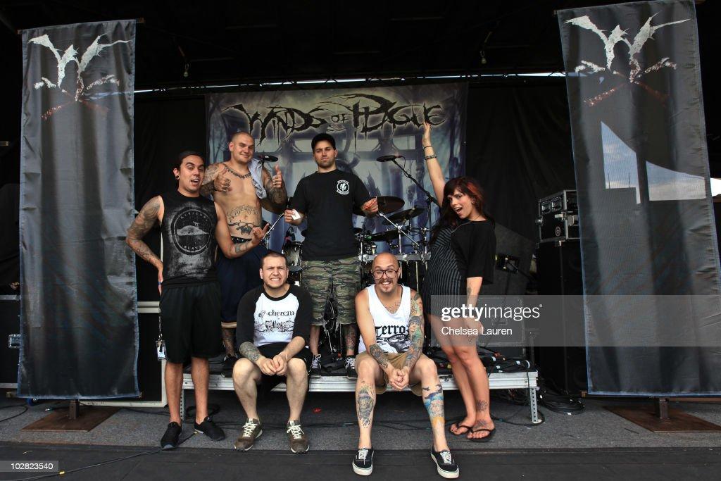 Drummer Arturo 'Art' Cruz vocalist Johnathan 'Johnny Plague' Cooke guitarist Nick Eash guitarist Nick Piunno bassist Andrew Glover and keyboardist...