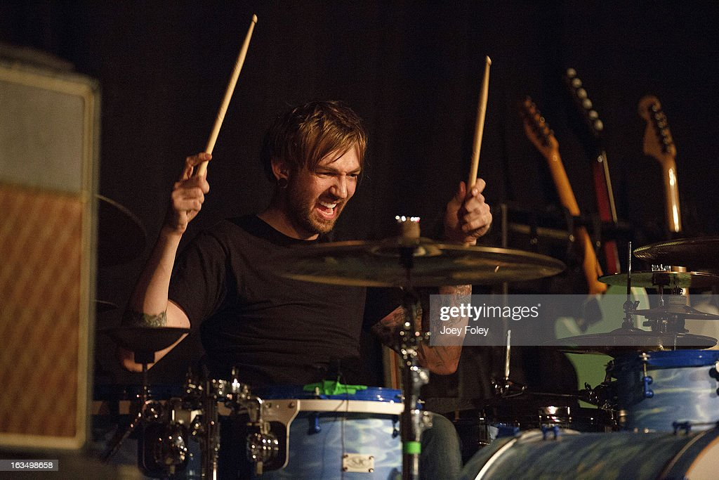 Drummer Ben Cato of The Dangerous Summer performs at The Irving Theater on March 10, 2013 in Indianapolis, Indiana.