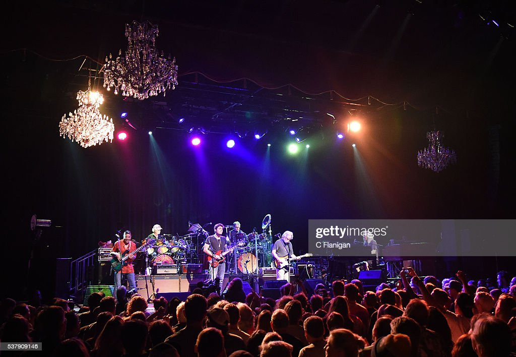 Drummer Bill Kreutzmann, Guitarists John Mayer, Bob Weir and Drummer Mickey Hart of Dead and Company perform during the 'Pay it Forward' concert at The Fillmore on May 23, 2016 in San Francisco, California.